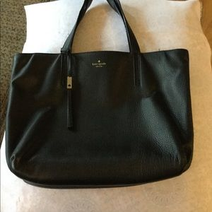 Kate Spade black leather tote.